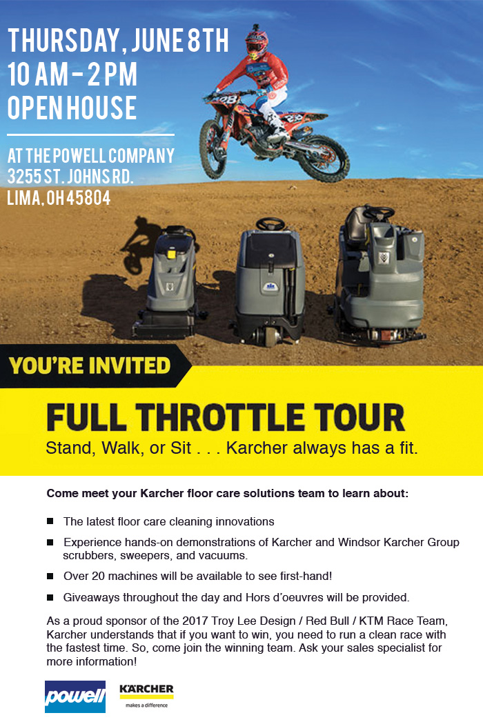 The Powell Company Ltd Karcher Full Throttle Tour