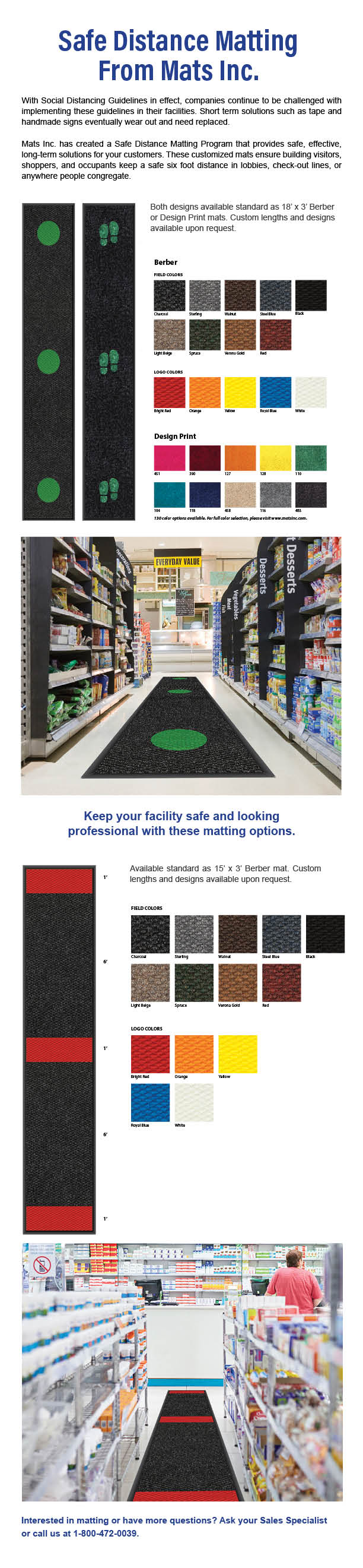 4-20 safe distance matting program