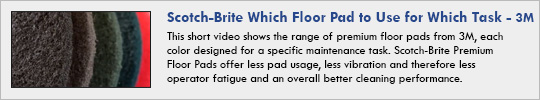 Scotch-Brite Which Floor Pad to Use for Which Task
