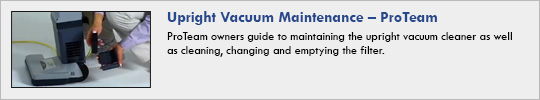 Upright Vacuum Maintenance
