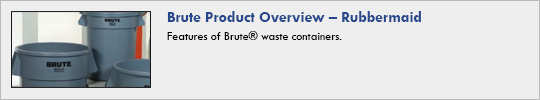 Rubbermaid - Brute Product Overview