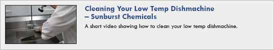 Cleaning Your Low Temp Dishmachine