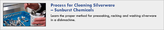 Sunburst Chemicals - Process for Cleaning Silverware