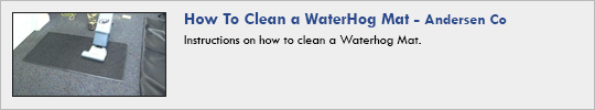 Andersen - How-To-Clean-a-WaterHog-Mat