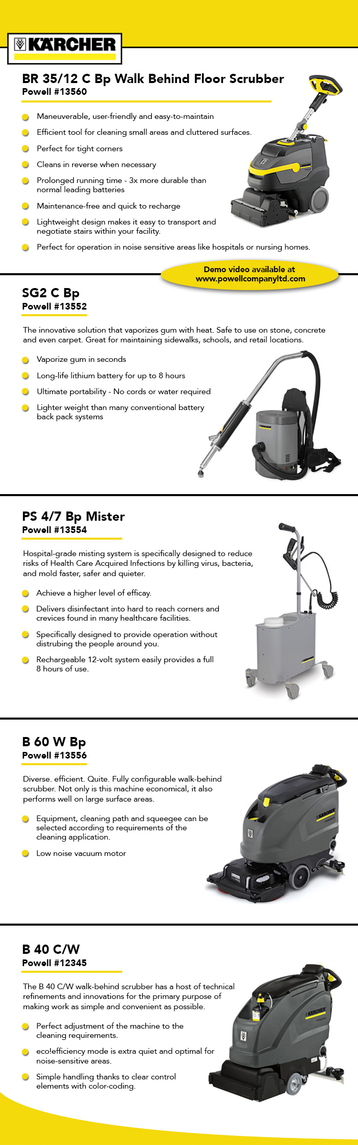 5-15 karcher equipment
