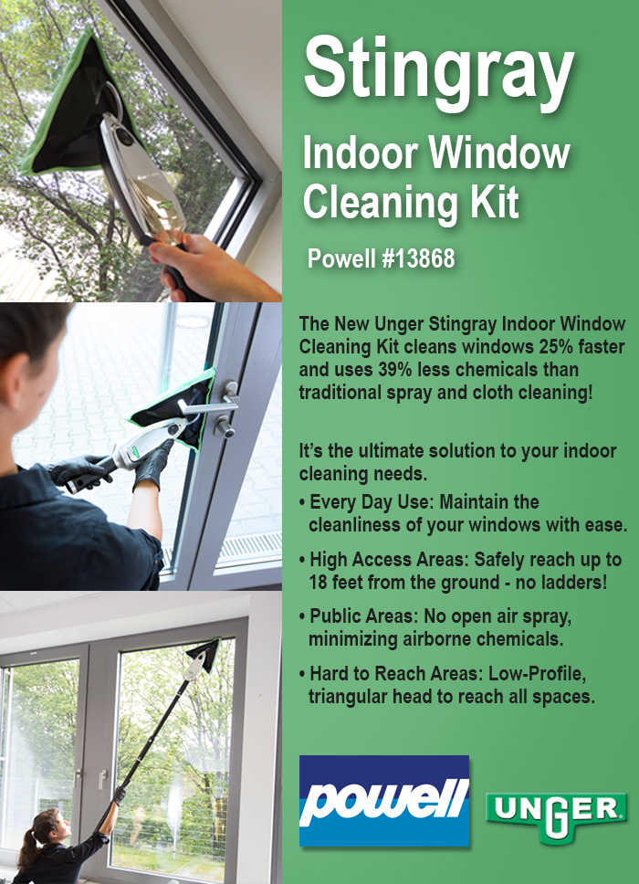 2-16 Stingray Indoor Window Cleaning Kit