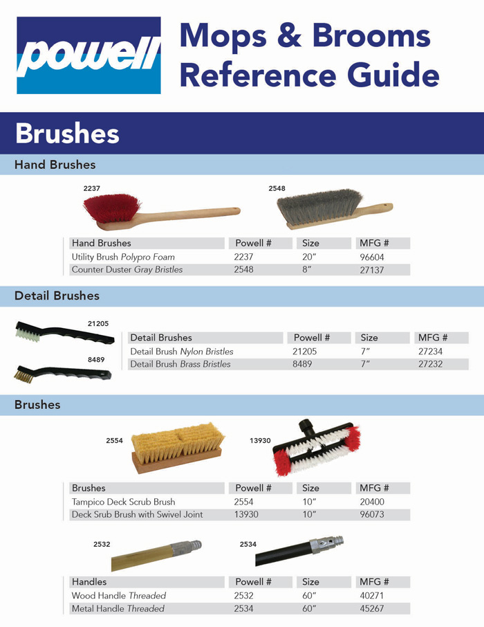 Mops & Brooms Reference Guide